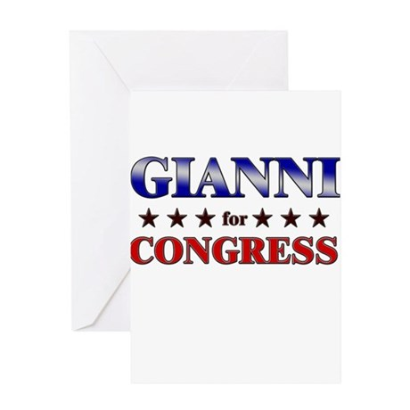 GIANNI for congress Greeting Card