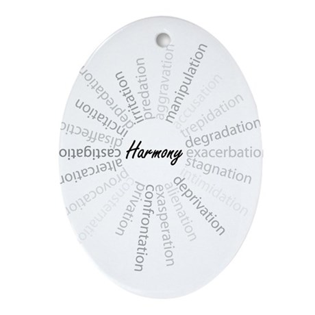 Harmony-Stress Relief Oval Ornament