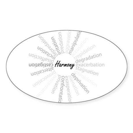 Harmony-Stress Relief Oval Sticker