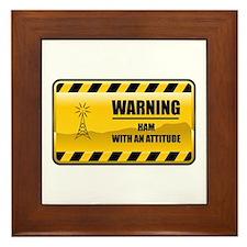 Warning HAM Framed Tile