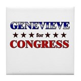GENEVIEVE for congress Tile Coaster