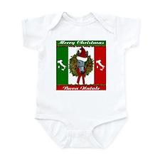 Donkey Buon Natale Christmas Infant Bodysuit