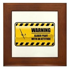 Warning Glider Pilot Framed Tile