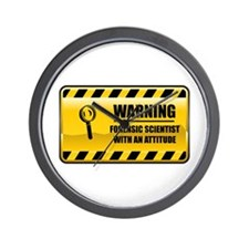 Warning Forensic Scientist Wall Clock