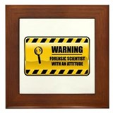 Warning Forensic Scientist Framed Tile