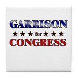 GARRISON for congress Tile Coaster