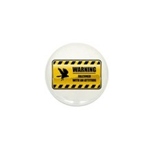 Warning Falconer Mini Button (10 pack)
