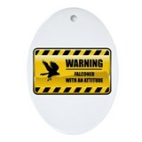 Warning Falconer Oval Ornament