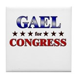 GAEL for congress Tile Coaster