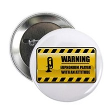"Warning Euphonium Player 2.25"" Button (10 pac"