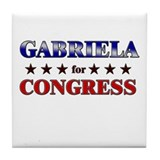 GABRIELA for congress Tile Coaster