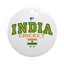 IN India Indian Cricket Ornament (Round)