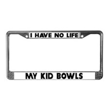 My Kid Bowls License Plate Frame