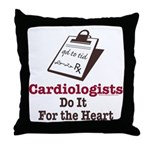 Funny Doctor Cardiologist Cardiology Throw Pillow