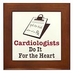 Funny Doctor Cardiologist Cardiology Framed Tile