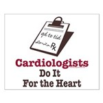 Funny Doctor Cardiologist Cardiology Small Poster