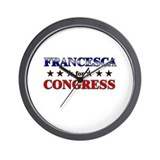 FRANCESCA for congress Wall Clock