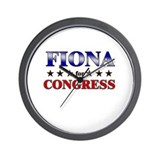 FIONA for congress Wall Clock