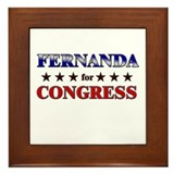 FERNANDA for congress Framed Tile