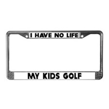 My Kids Golf License Plate Frame