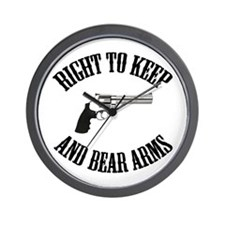 Right To Keep And Bear Arms Wall Clock