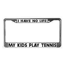 My Kids Play Tennis License Plate Frame
