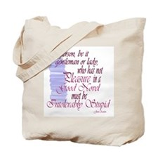 Jane Austen Novel Quote and Novels Tote Bag