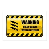 Warning Cigar Smoker Postcards (Package of 8)
