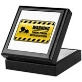 Warning Cement Person Keepsake Box