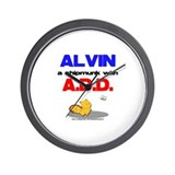 Alvin has A.D.D. Wall Clock