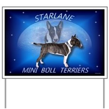 Mini Bull Terrier Breeder Yard Sign