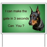 Doberman Yard Sign