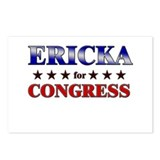 ERICKA for congress Postcards (Package of 8)