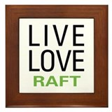 Live Love Raft Framed Tile