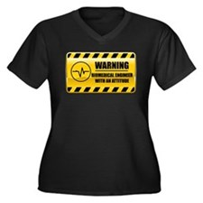 Warning Biomedical Engineer Women's Plus Size V-Ne