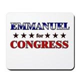 EMMANUEL for congress Mousepad
