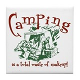 Camping Makeup Tile Coaster