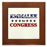 EMMALEE for congress Framed Tile