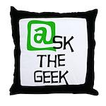 @sk the Geek Throw Pillow