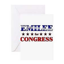 EMILEE for congress Greeting Card