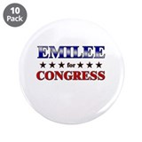 "EMILEE for congress 3.5"" Button (10 pack)"