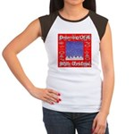 Dreaming Of A White Christmas Women's Cap Sleeve T