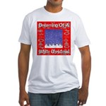 Dreaming Of A White Christmas Fitted T-Shirt