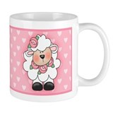 Lamb Hearts in Pink Mug