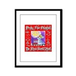 Pray For Peace The Whole Worl Framed Panel Print