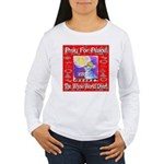 Pray For Peace The Whole Worl Women's Long Sleeve