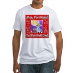 Pray For Peace The Whole Worl Fitted T-Shirt