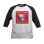 Pray For Peace The Whole Worl Kids Baseball Jersey