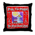 Pray For Peace The Whole Worl Throw Pillow