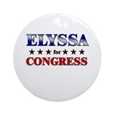 ELYSSA for congress Ornament (Round)